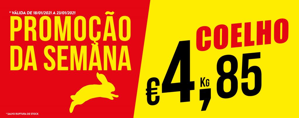 Promoção Semana 18/01 a 23/01/2021 Coelho