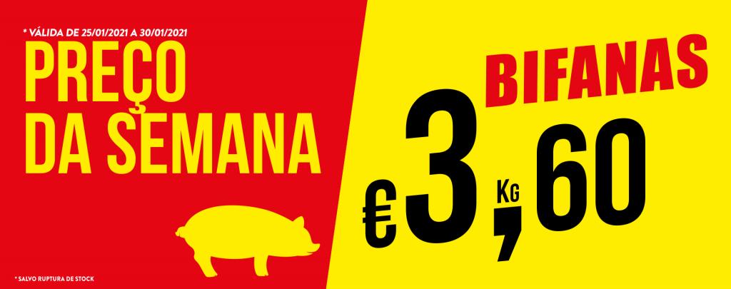 Promoção Semana 25/01 a 30/01/2021 Bifanas