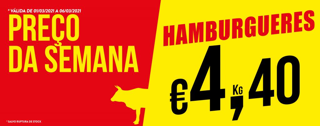 Promoção Semana 01/03 a 06/03/2021 Hamburgueres
