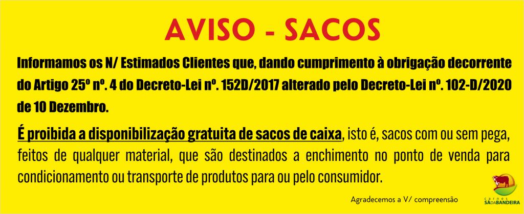 Aviso Sacos